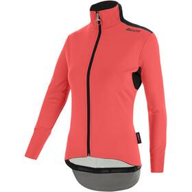 Santini Vega Xtreme Cut Winter Jacket Women, grenadine/fluo coral